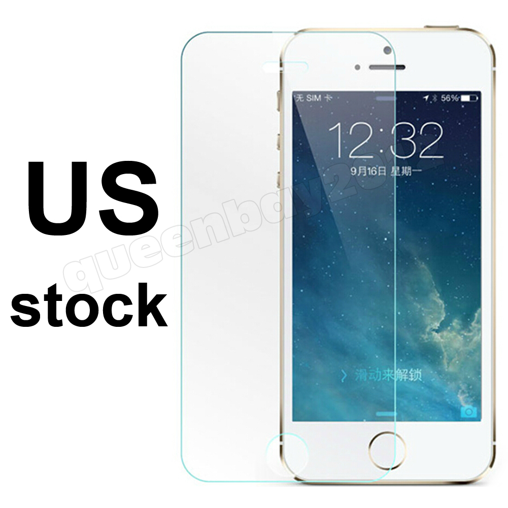 6fac72b1dfc New 2014! 0.2mm Genuine Top Quality Real Tempered Glass Film Guard Screen  Protector set for iPhone 5 5S 5C only 0.2mm