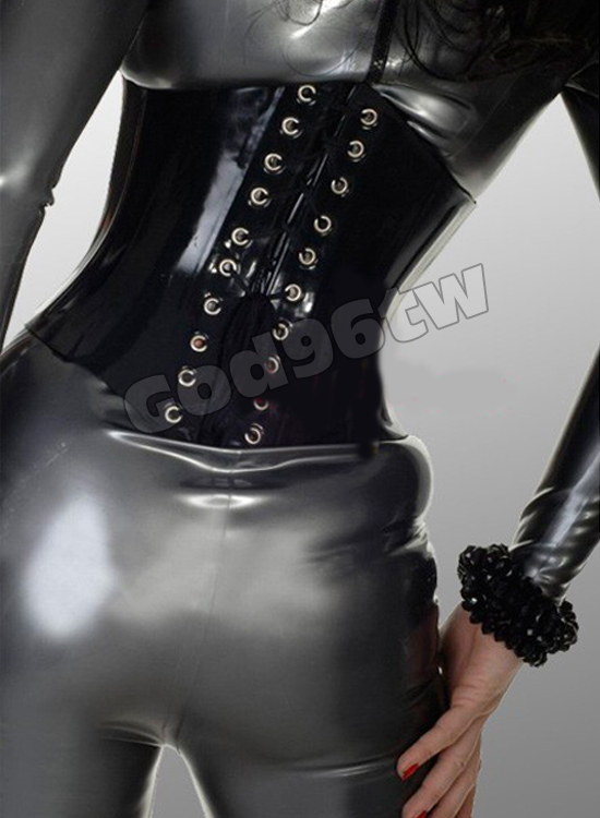 lace suspender up latex Girdle