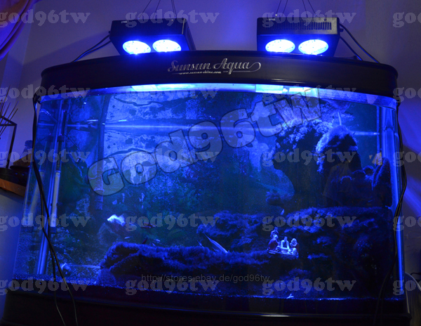 led dimmbar aquarium tank beleuchtung meerwasser korallenriff licht 1x 144watt ebay. Black Bedroom Furniture Sets. Home Design Ideas