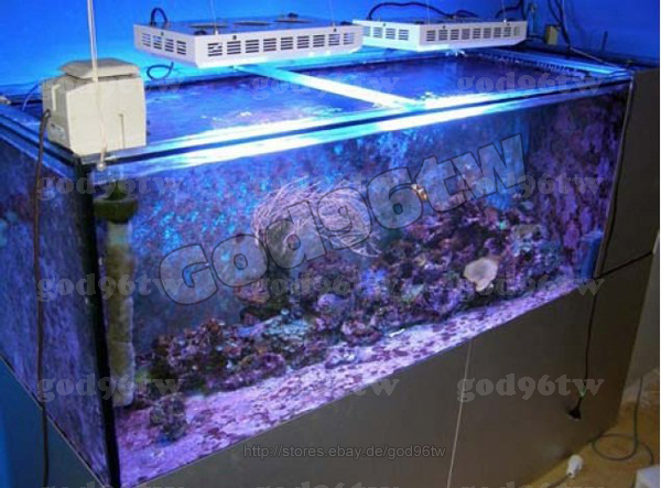 led dimmbar aquarium tank beleuchtung meerwasser korallenriff licht 2x 120watt ebay. Black Bedroom Furniture Sets. Home Design Ideas