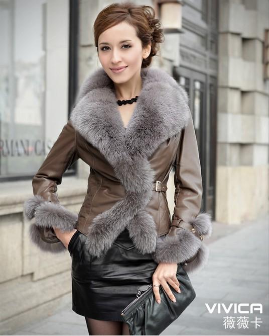 100 echte damen schaf leder jacke mantel lamm pelz fuchs. Black Bedroom Furniture Sets. Home Design Ideas