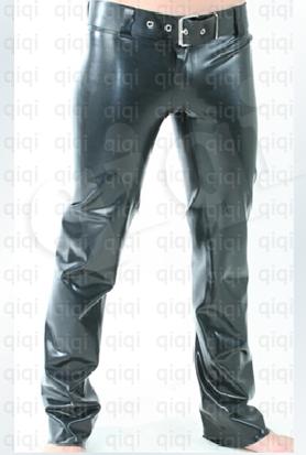 Men/'s 100/% Latex Rubber Gummi 0.45mm Leggings Pants Trousers Suit Catsuit Sliver
