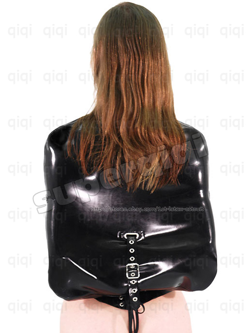 Latex Rubber 0 8mm Straight Jacket Coat Catsuit Binder for sale