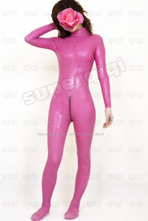 Female latex body suits