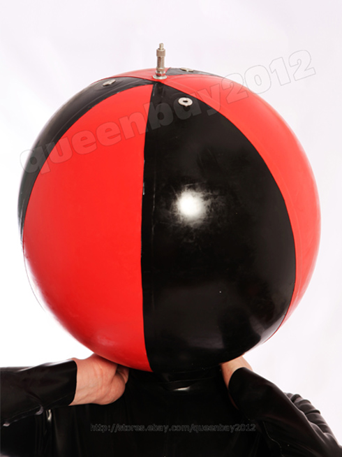 100 Latex Rubber Gummi Inflatable Ball Mask Hood Catsuit
