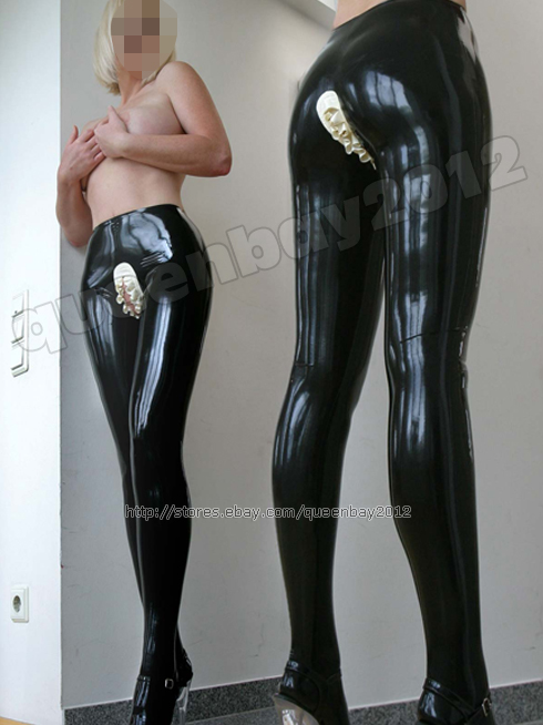100 latex rubber gummi maid pantyhose trousers pants catsuit suit frills ebay. Black Bedroom Furniture Sets. Home Design Ideas
